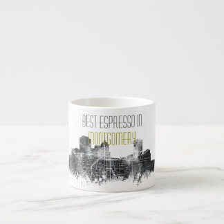 MONTGOMERY, ALABAMA SKYLINE - Espresso mug 6 Oz Ceramic Espresso Cup