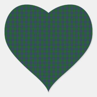 Montgomery Clan Tartan Heart Sticker