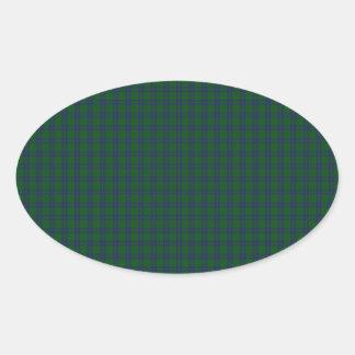 Montgomery Clan Tartan Oval Sticker
