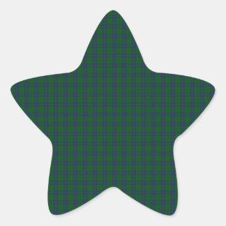 Montgomery Clan Tartan Star Sticker