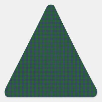 Montgomery Clan Tartan Triangle Sticker