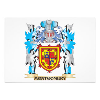 Montgomery Coat of Arms - Family Crest Custom Announcement