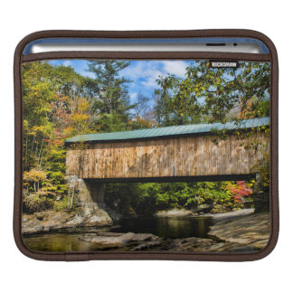 Montgomery Covered Bridge with fall foliage iPad Sleeve