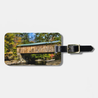 Montgomery Covered Bridge with fall foliage Luggage Tag