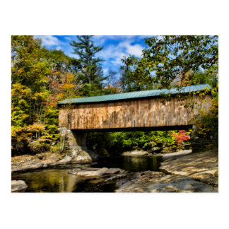 Montgomery Covered Bridge with fall foliage Postcard