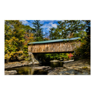 Montgomery Covered Bridge with fall foliage Print