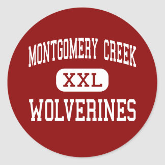 Montgomery Creek - Wolverines - Montgomery Creek Classic Round Sticker