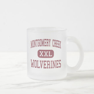 Montgomery Creek - Wolverines - Montgomery Creek Frosted Glass Coffee Mug