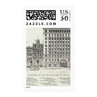 Montgomery East side Bush and Pine Postage