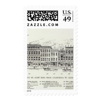 Montgomery East side California and Sacramento Postage Stamp