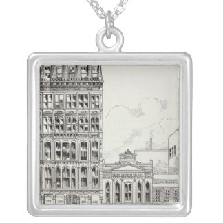 Montgomery East side Pine and California Silver Plated Necklace