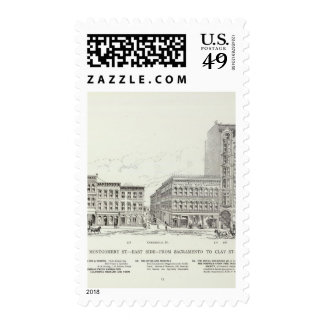 Montgomery East side Sacramento and Clay Postage Stamps