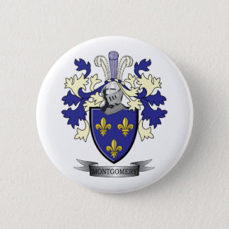 Montgomery Family Crest Coat of Arms Pinback Button