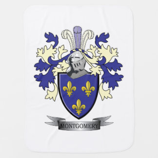 Montgomery Family Crest Coat of Arms Stroller Blanket