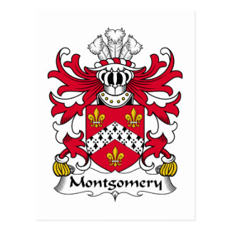 Montgomery Family Crest Post Cards