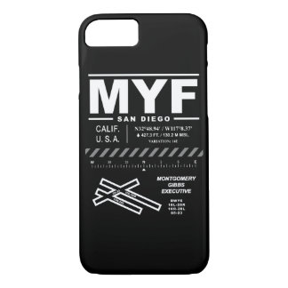 Montgomery Gibbs Executive Airport MYF iPhone Case