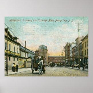 Montgomery St., Jersey City NJ 1908 Vintage print
