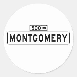 Montgomery St., San Francisco Street Sign Classic Round Sticker