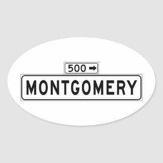 Montgomery St., San Francisco Street Sign Oval Sticker