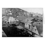 Montgomery Street San Francisco California 1850 Greeting Card