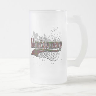 Montgomery Tartan Grunge Frosted Glass Beer Mug