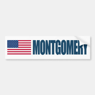 Montgomery US Flag Bumper Sticker