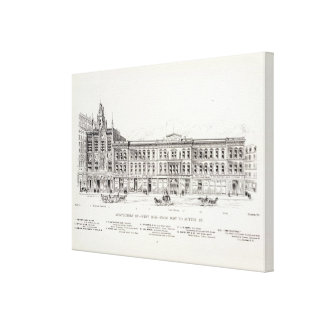 Montgomery West side Post and Sutter Gallery Wrap Canvas