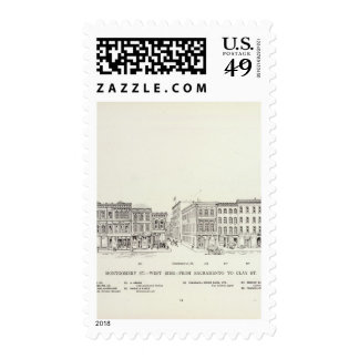 Montgomery West side Sacramento and Clay Postage Stamp