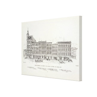 Montgomery West side Sutter and Bush Canvas Prints