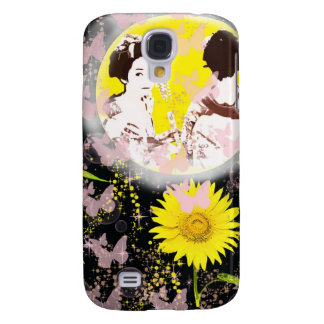 Month and Muko mallow and dance 妓 Galaxy S4 Case