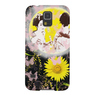 Month and Muko mallow and dance 妓 Case For Galaxy S5
