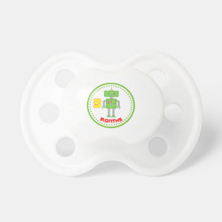 # Month Green Robot Baby Pacifiers