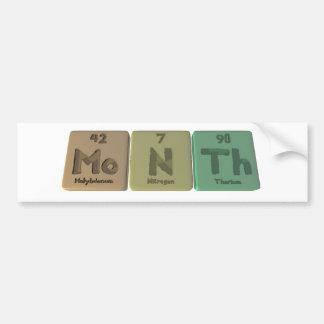 Month-Mo-N-Th-Molybdenum-Nitrogen-Thorium.png Bumper Sticker