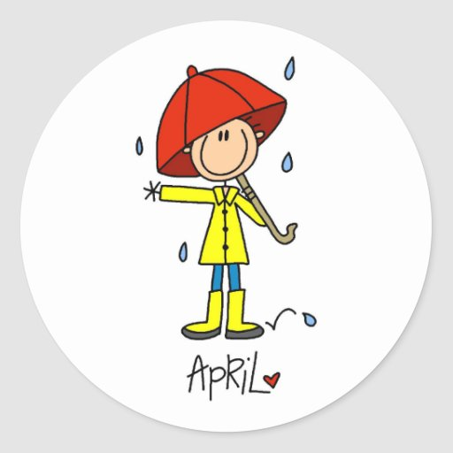 Month of April Stickers