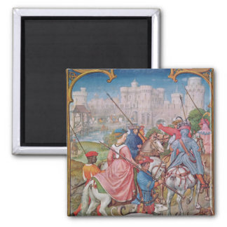 Month of August 2 Inch Square Magnet