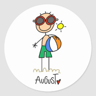 Month of August Stickers