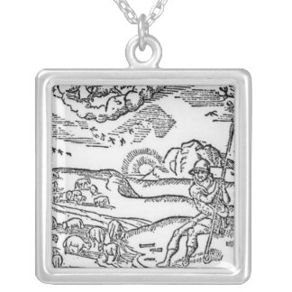 Month of December, from 'The Shepheardes Silver Plated Necklace