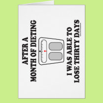 MONTH OF DIETING T-SHIRTS AND GIFTS CARD