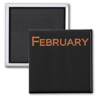 Month of February Teaching or Memory Aid Magnet