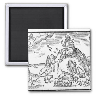Month of July, from 'The Shepheardes Calender' 2 Inch Square Magnet