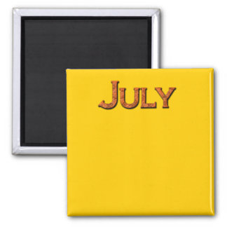 Month of July Teaching or Memory Aid Magnet