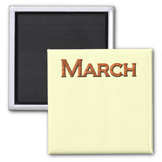 Month of March Teaching or Memory Aid Magnet