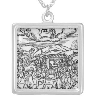 Month of May, from 'The Shepheardes Calender Silver Plated Necklace