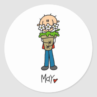 Month of May Classic Round Sticker