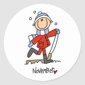 Month of November Classic Round Sticker