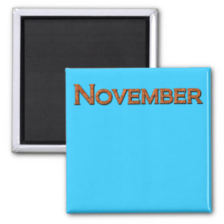 Month of November Teaching or Memory Aid Magnet