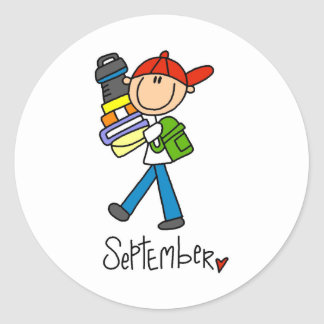 Month of September Classic Round Sticker