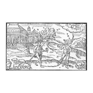 Month of September 'The Shepheardes Calender' Canvas Print