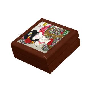 Month Oka 芳 year, favorite cat Keepsake Box