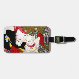 Month Oka 芳 year, favorite cat Luggage Tag
